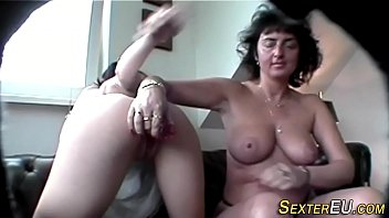ffm milf german Ashley and shira share one fat dildo on the couch