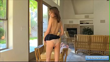 schoolgirl naughty cuckold Babe is having a time with her lustful muff