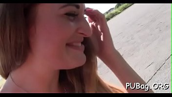 public funny complication Fellow creampies the gal after banging her well