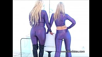 rubber latex heavy bdsm Housesitter lesbian fun