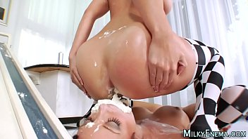 food ass in eating Www son public sex