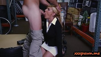 a by young gets fucked cock milf blonde And son in school