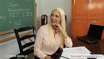 fuck in the classroom Glasses young brunette tinny