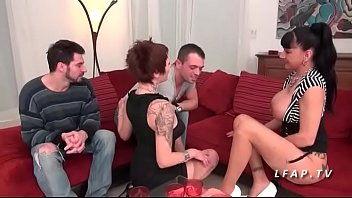 francaise amaterice lesbienne Spanking over jeans