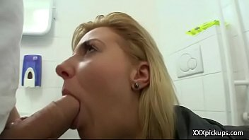 sexy public two young in sluts blonde Big titted milf jerks a hard cock off