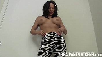 pants jeny smith yoga see through fetish Very sexy brunette masturbed in bathtub