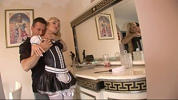 maid french caught hot gets fucking Wasp cock torture
