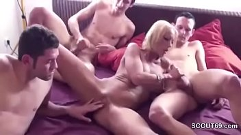 by dudes two german fucked mature younger is Three cuties many dildos and more fun