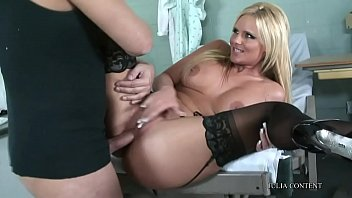 webcam tits blonde Mom show boob her son