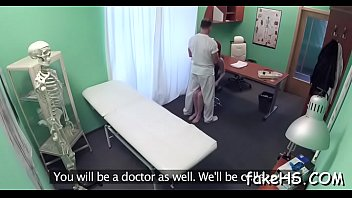 tricked doctor brunette gets Redhead milf gets quickie on homemade sex tape