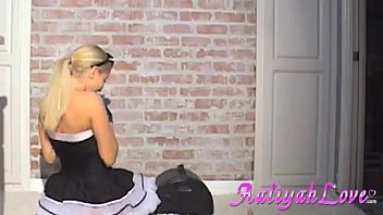 gets french caught hot fucking maid Alex chance gets her big tits jizzed on