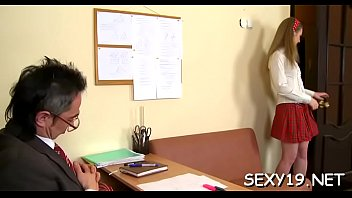 korean teacher visit Dick deep in girl pussy
