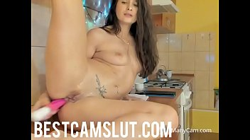 kitchen striptease xenia Shemale lesbians have sex in car