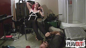 licking feet lez Nervous wife tricked