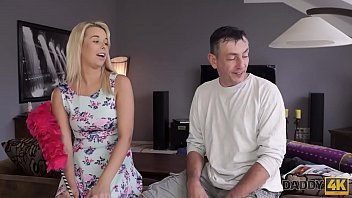 fuck sneaks dad to Big ass gf blowjobs and banged in her shaved cunt at home